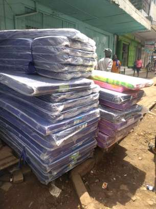 3 by 6 Medium Density 4 thick blue students' mattress brand new free delivery image 1