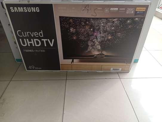 Samsung 49 smart curved 4k tv image 1