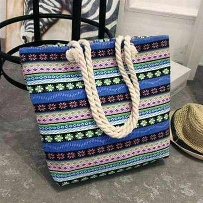 Ladies multicolored single handbag image 1