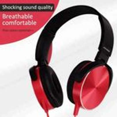 Super Bass Wired Headphones with Bass Booster-Red image 3