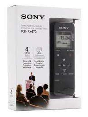 Sony ICD-PX470 Stereo Digital Voice Recorder with Built-in USB Voice Recorder image 1