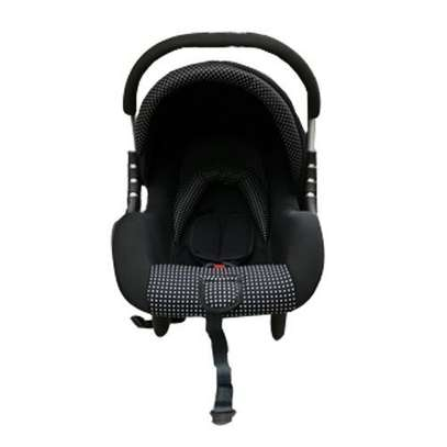 Infant Baby Car Seat/ Carry Cot - black and white polka dots( big) image 2