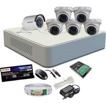 6 HD CCTV Camera  Installation Kit (with Night Vision + 1TB Storage + 100m Cable) image 4