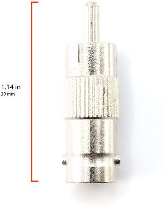 BNC Female to RCA Male Adapter for CCTV Security Camera image 1