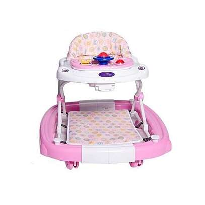 King'S Collection 2 in 1 Baby Walker - Pink image 1