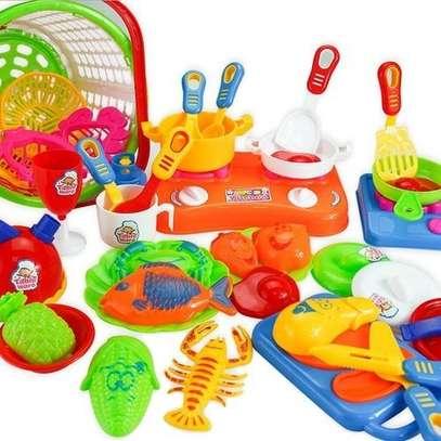 35pcs Plastic Kids Children Kitchen Utensils Food Cooking Pretend Play Toy image 2