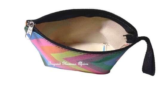 Women's Multicolor stripped coin accessories purse image 2