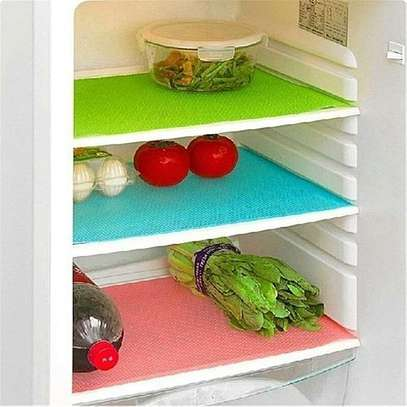 Washable Refrigerator Mats Drawer Mats Table Placemats-4 pack . image 1