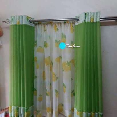 green kitchen curtains image 1