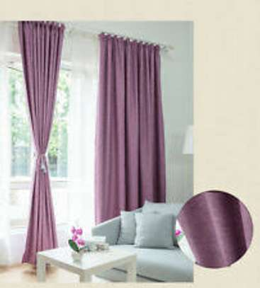Linen Curtain(purple) image 2