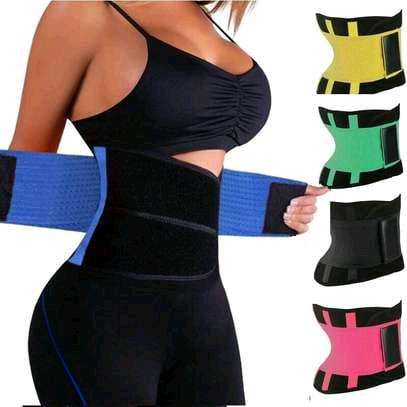 Waist Trimmer Belt Weight Loss Sweat Band Wrap For a Fat Tummy Stomach image 1