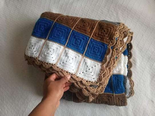 Handmade crochet throw Blanket image 2