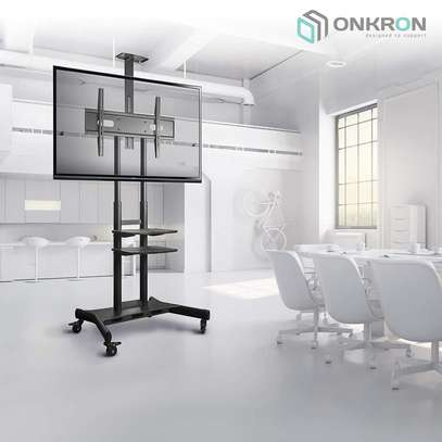 ONKRON Mobile TV Stand TV Cart for 55''– 80'' screens up to 200 lbs Universal TV TS18-81 Black