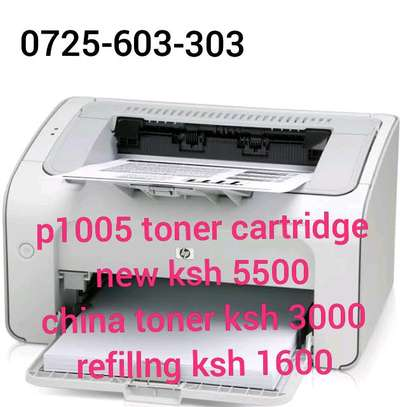 P1005 LaserJet  toner cartridge black CB435A image 1