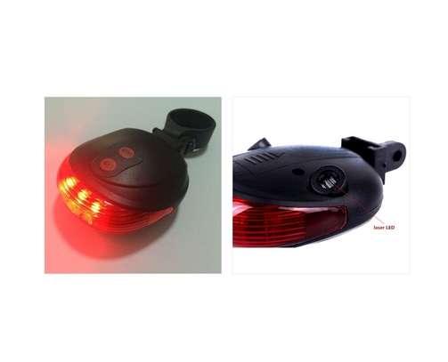 Bicycle Computer Speedometer, LED Headlight, LED Rear Laser Line Blinker Combo image 4