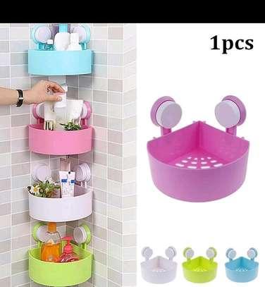 Wall mount corner organizer bathroom image 1