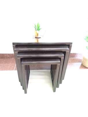 Modern Black Wood Coffee Table image 4