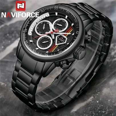 Naviforce water resistant digital analog watch image 4
