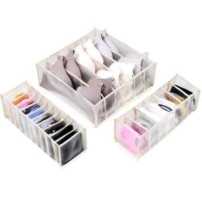White 3 pieces underwear bra storage organiser image 1