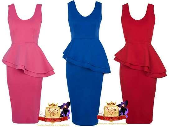Sleeveless Peplum Dress image 1