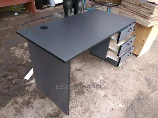 Office desk for use with standard and general office chair image 1