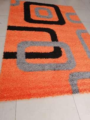 shaggy Turkish carpet 5 by 8 orange image 1