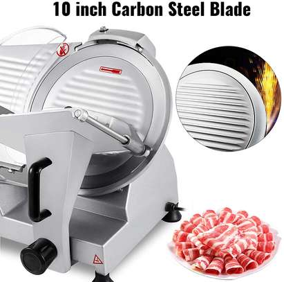 Commercial Meat Slicer, 10 inch Electric Food Slicer, 240W Frozen Meat Deli Slicer, Semi-Auto Meat Slicer For Commercial and Home use image 4