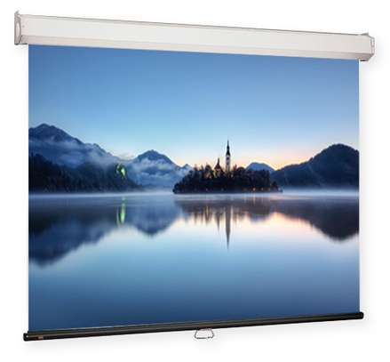 Wall-Mount Manual Projection Screen 120″ x 160″ image 1