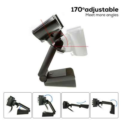 Full HD Pro Webcam Camera Built-in Microphone with MIC Clip-on for P image 3