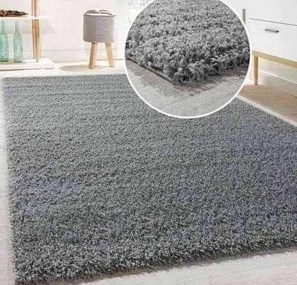 Turkish shaggy carpets grey image 1