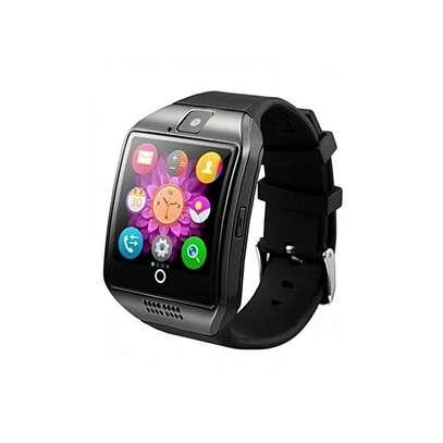 Smartwatch Q18 Smart Watch Phone - 0.8MP Camera – Single SIM - Silver/Black image 1