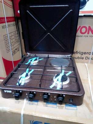 VON 3GAS 1 ELECTRIC TABLE BURNER image 1