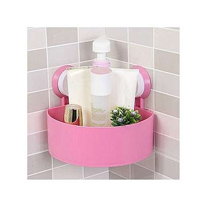Suction cup bathroom organiser image 1