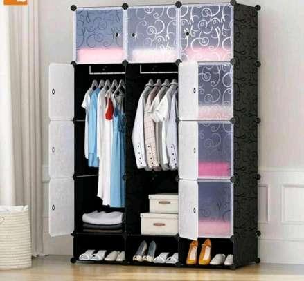Plastic clothes storage image 1