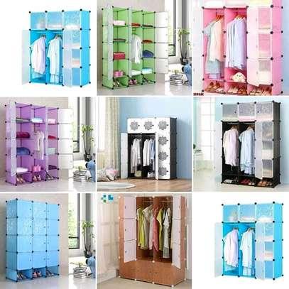4 column plastic wardrobe image 6