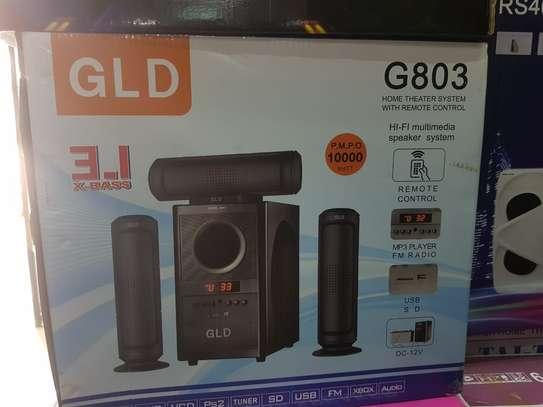 GLD 3.1 Woofer Model G803 10000watts Hifi System Bluetooth Speakers image 1