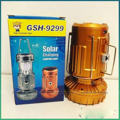 Hand-held or Hanging USB Rechargeable LED Camping Lantern Solar Flashlight-Random Colour Delivery
