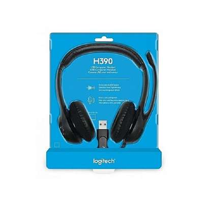 Logitech H390 -USB Headset with Noise-Canceling Microphone image 1