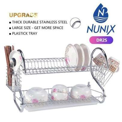 Stainless 2 Layer Dish Rack/Drainer image 1
