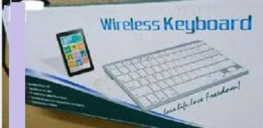 Bluetooth Wireless Keyboard With A Mouse