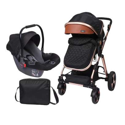 Baby Stroller Compact Reversible Bassinet For Travel image 1