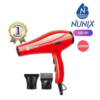 Nunix HD-01 2200W Blow Dry Hair Dryer - Red image 1