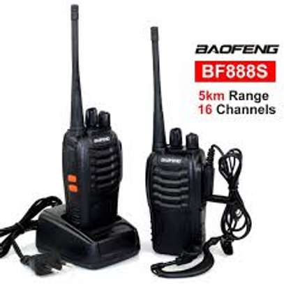 Long Range Walkie Talkies FRS Two Way Radios with Earpiece 2 Pack UHF Handheld Reachargeble BF-888s Interphone for Adults or Kids Hiking Biking Camping Li-ion Battery and Charger Included image 1