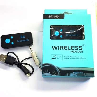 Car Bluetooth Car Kit Adapter Wireless Handsfree Aux Mic Receiver 3.5m EDR Speaker image 1
