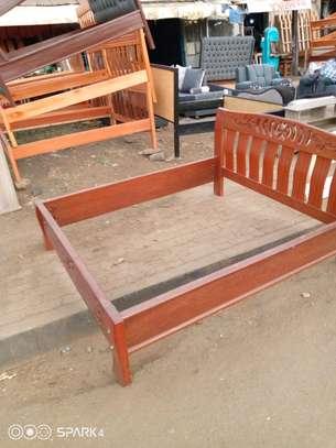 A 6by6 hardwood designed bed image 1