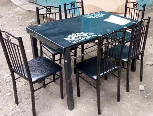 Palatial home look dining table with 6 chairs set image 1