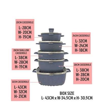 22pcs Dessini non stick square pot cookware set image 2