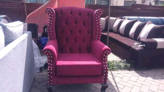 Beautiful Contemporary Quality Wingback Chair image 1