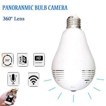 nanny bulb camera HD 360 Panoramic camera image 1
