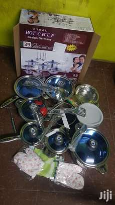 39 Pcs Stainless Cookware Set image 1